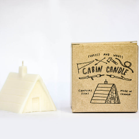 Forest and Waves A Frame Cabin Candle