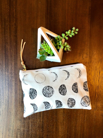 Moon Phase Organic Pouch