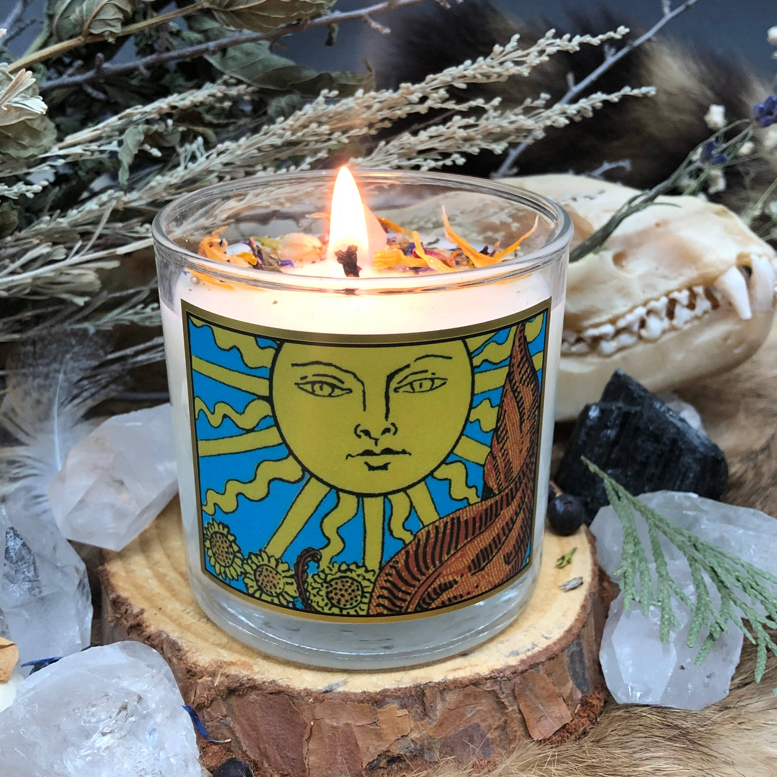 The Sun Tarot Candle