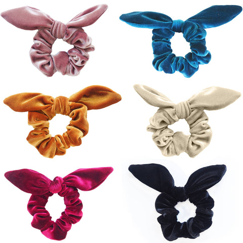 Velvet Scrunchy with Bow