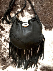 Leather Hags Medium Fringe Bag