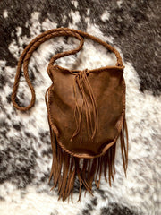Leather Hags Small Fringe Bag