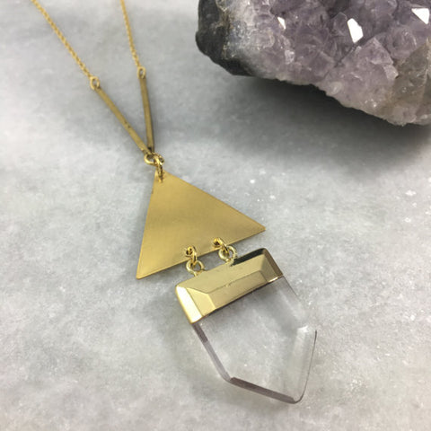 Pointed Quartz Necklace