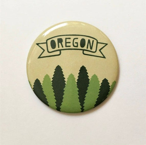 Oregon Evergreen Magnet