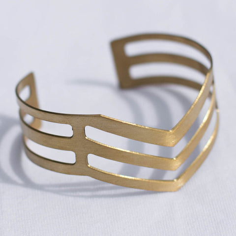 Hammered Chevron Cuff