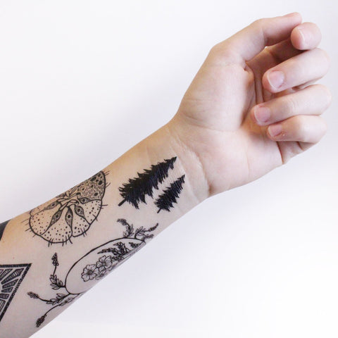 Nature Tats Tiny Pinecones