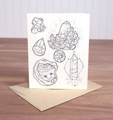 Crystals Greeting Card