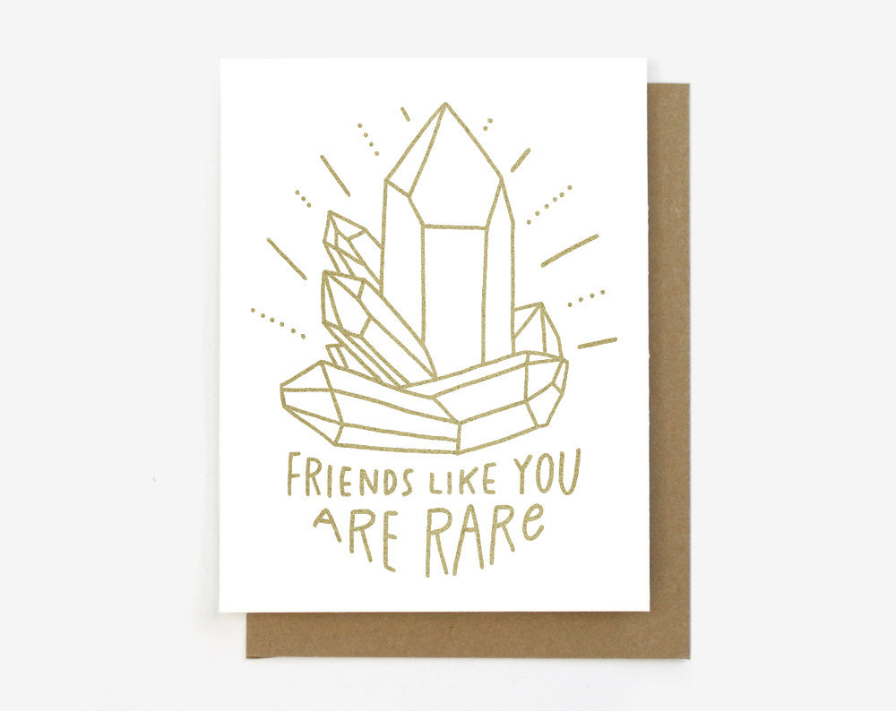 Rare Friends Greeting Card