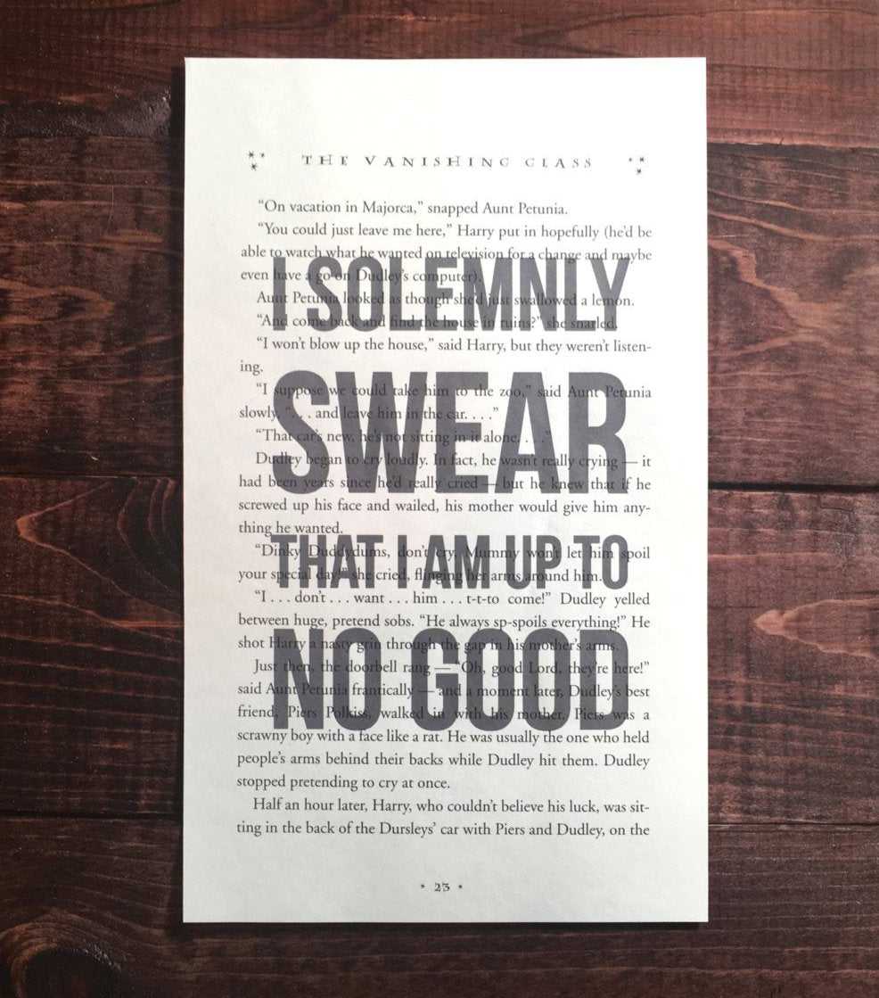 image regarding Printable Harry Potter Book Pages known as Harry Potter Solemnly Swear Print