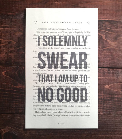 Harry Potter Solemnly Swear Print