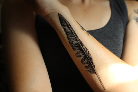 Black Crow Feather x Nature Tats