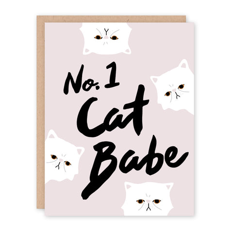 Cat Babe Greeting Card