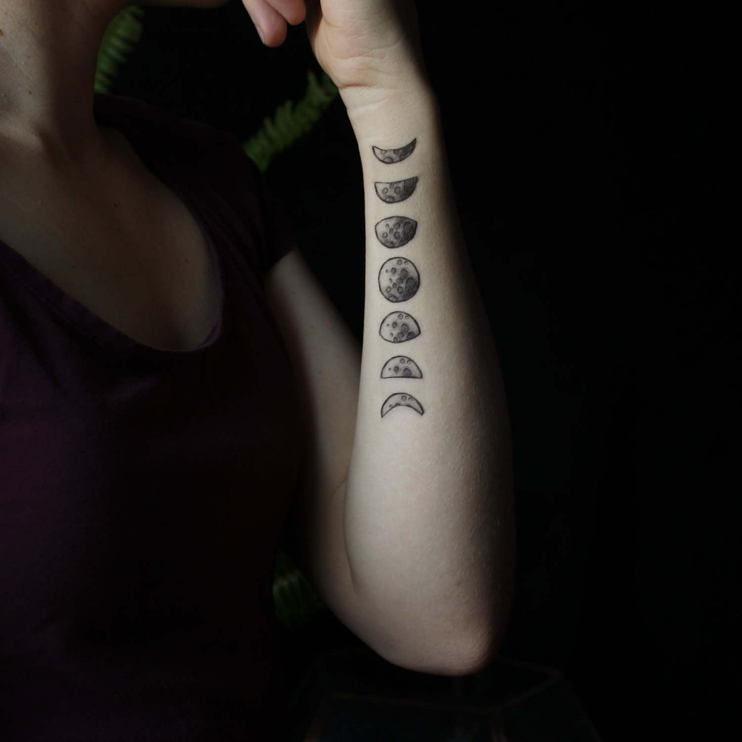 Nature Tats Moon Phase