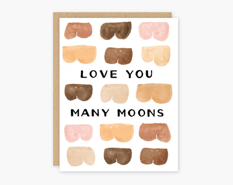 Love You Many Moons Greeting
