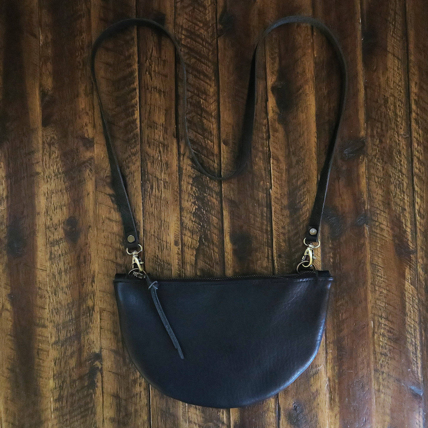 Half Moon Leather Crossbody