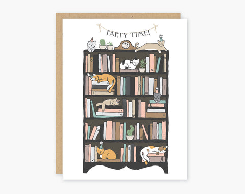Party Time Cats Greeting Card