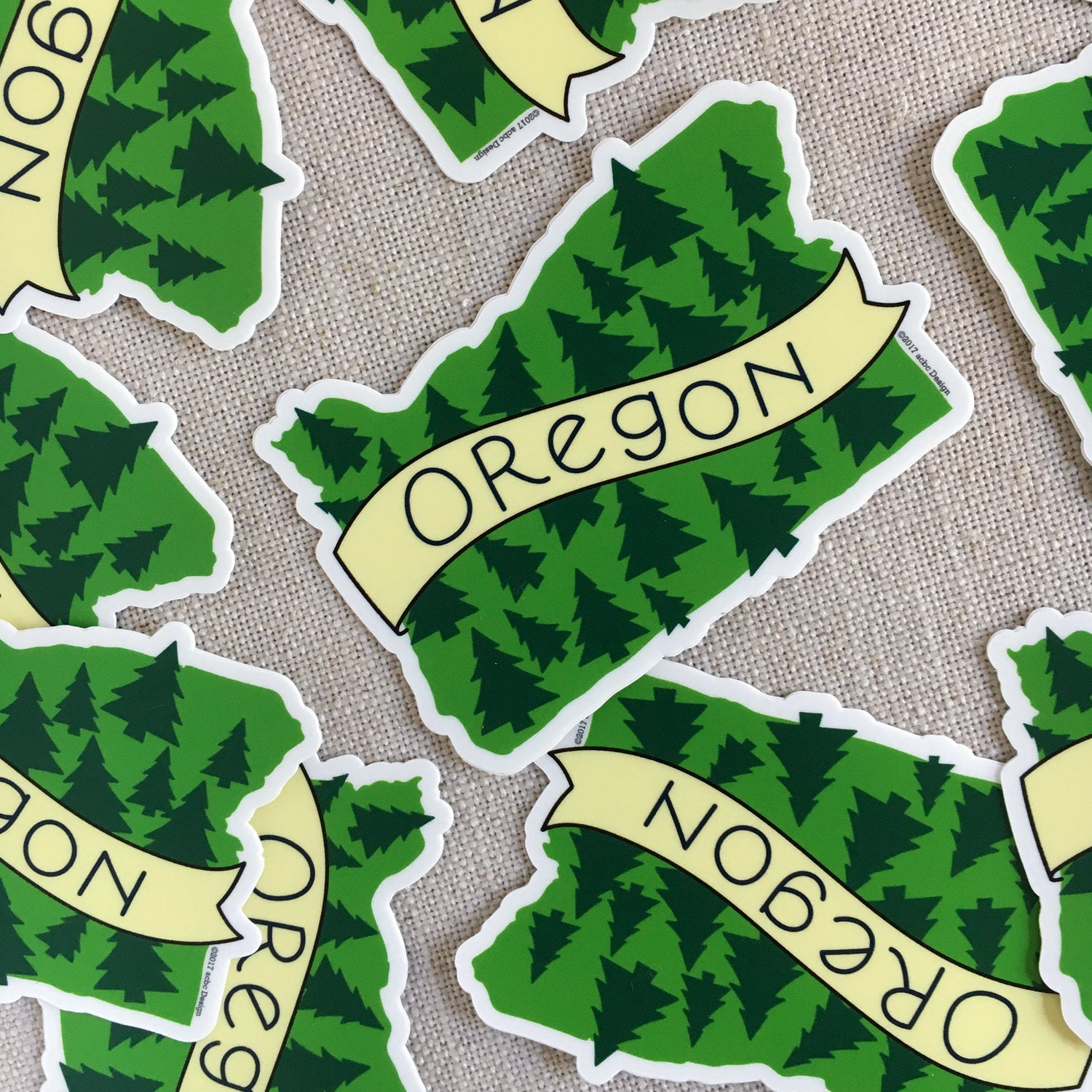 Oregon Trees Sticker