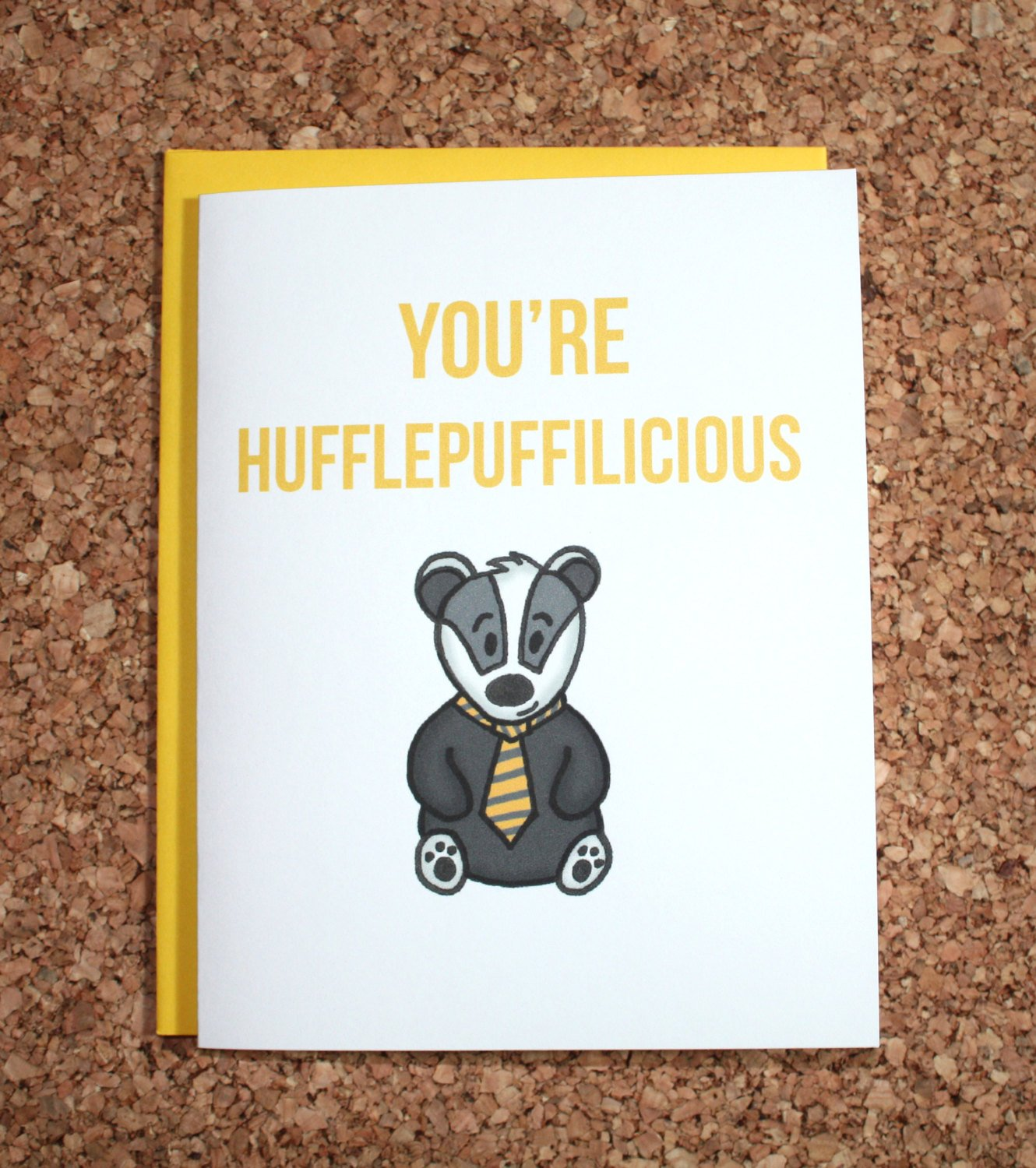Harry Potter Hufflepuff Greeting
