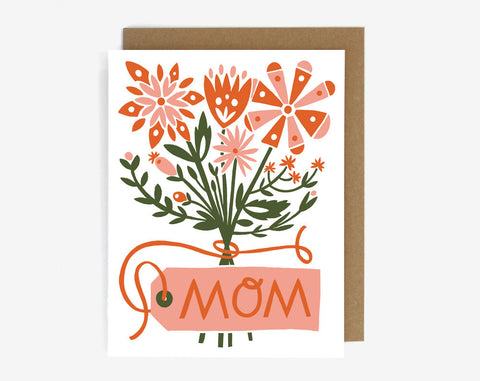 Mom Floral Bouquet Greeting Card