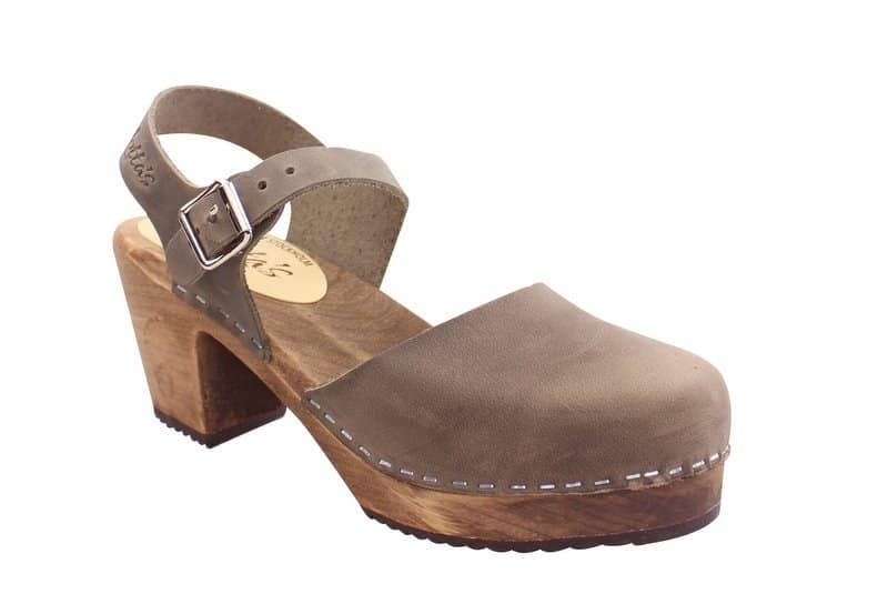 Lotta from Stockholm Taupe Highwood Clog