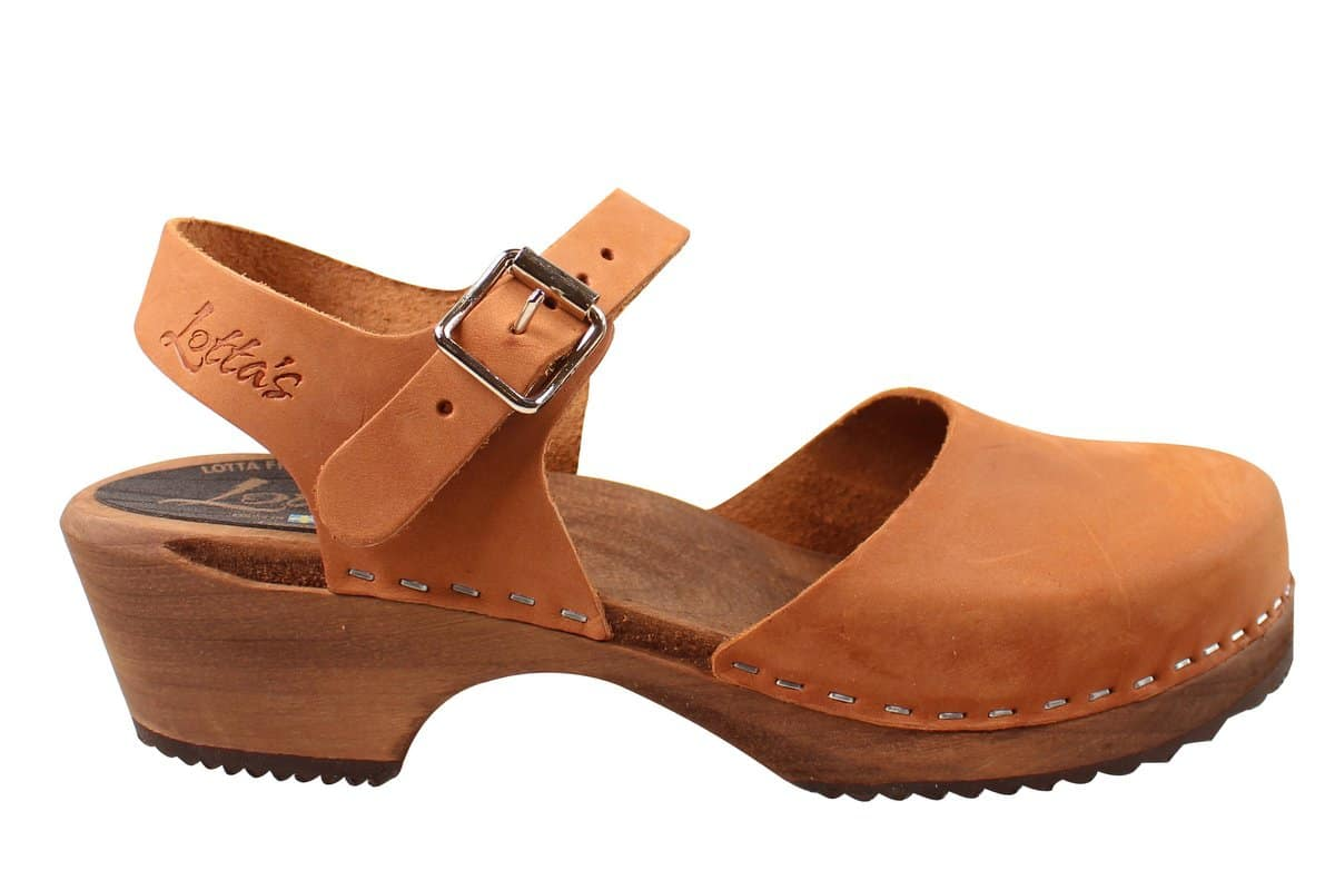 Lotta from Stockholm Brown Oiled Low Wood Clog