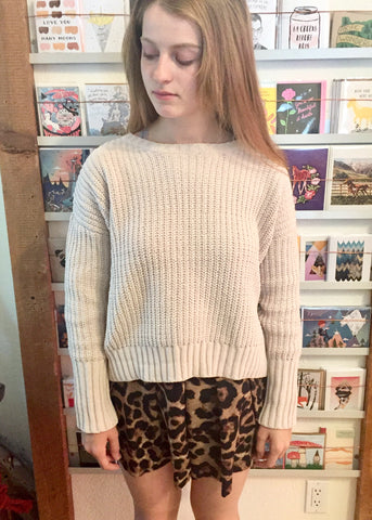 Moon River Crop Sweater