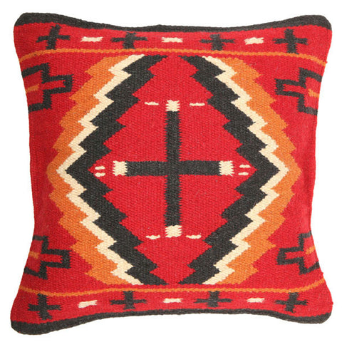 Maya Pillow Red + Black