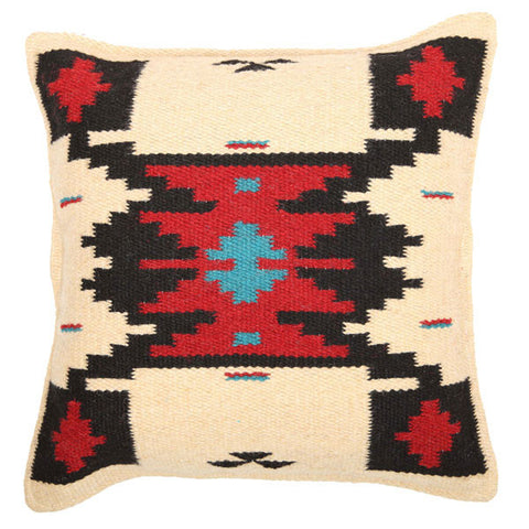 Maya Pillow Natural + Red