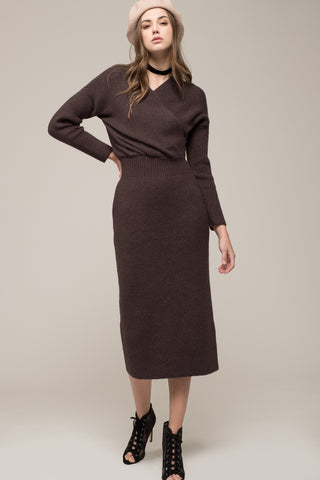 Moon River Midi Sweater Dress