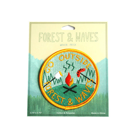 Forest and Waves Go Outside Patch