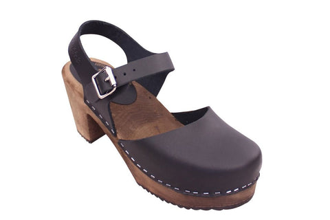 Lotta from Stockholm Black Highwood Clog