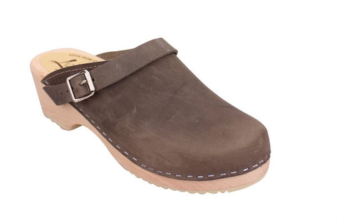 Lotta from Stockholm Classic Taupe Clogs with Strap