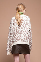 Moon River Snow Leopard Cardigan