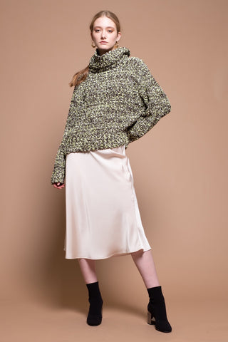 Moon River Turtleneck Speckled Sweater