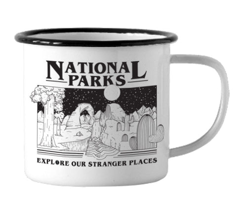 Parks Project Stranger Places Enamel Mug