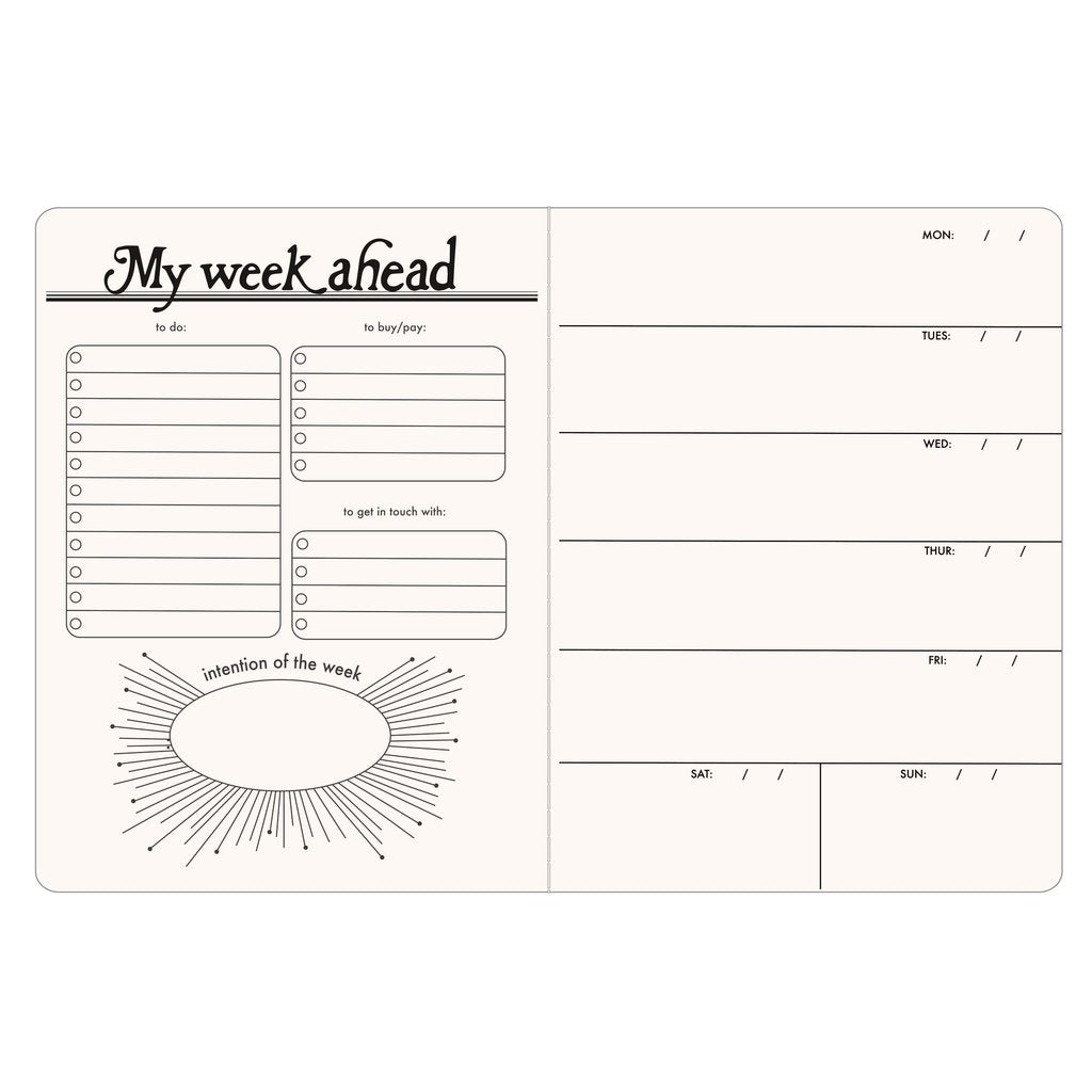 Open-Dated 6 Month Planner
