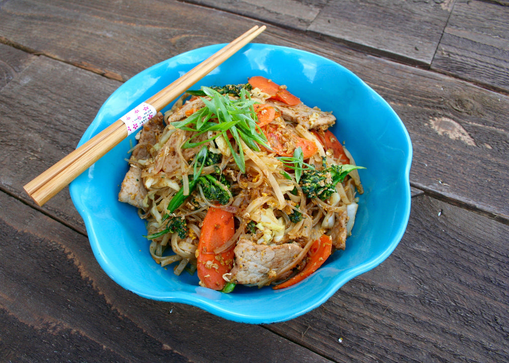 Two Noodle Pork Stir Fry