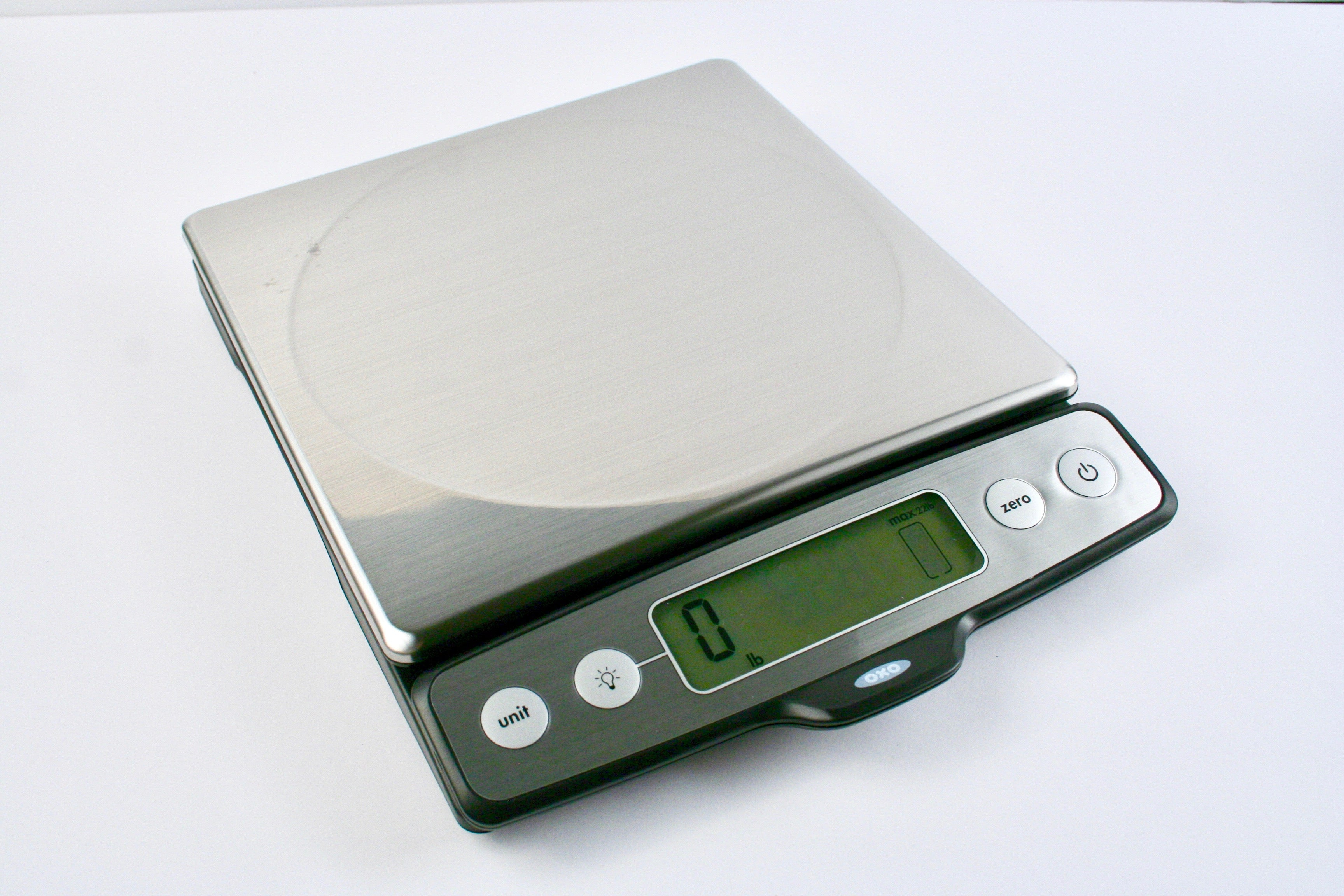 OXO Good Grips 22 lb Stainless Steel Food Scale with Pull Out Display