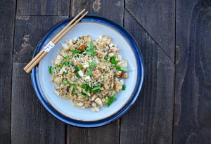 Tofu Fried Rice with Lemongrass and Roasted Cashews