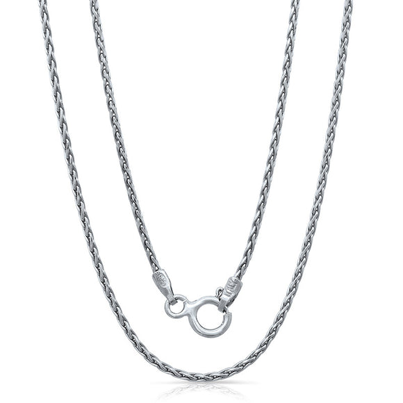 Light weight Italian silver chain with rhodium plating. WEIGHT: 2.6 GRAMS Z035SPGDC - Zaitano