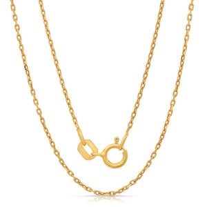 Light weight Italian silver chain with gold plating. - Zaitano