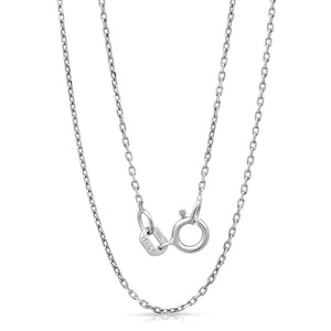 Light weight Italian silver chain with rhodium plating. WEIGHT: 2.2 GRAMS Z030FORZDC - Zaitano