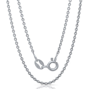 Light weight Italian silver chain with rhodium plating. WEIGHT: 2.2 GRAMS Z040FORZDC - Zaitano
