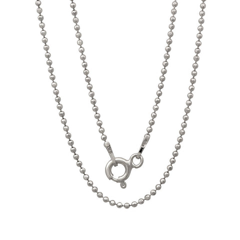 Light weight Italian silver chain with rhodium plating. WEIGHT: 2.1 GRAMS Z120CPLDC - Zaitano