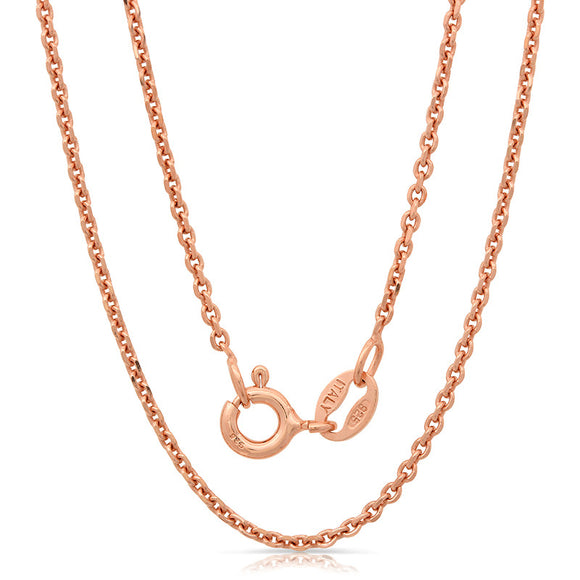 Light weight italian silver chain with rose gold plating. Weight : 2.2 Gram zrfn040for2dc - Zaitano