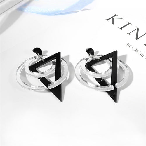 Fashion Lady Earrings Acrylic - Zaitano - Zaitano