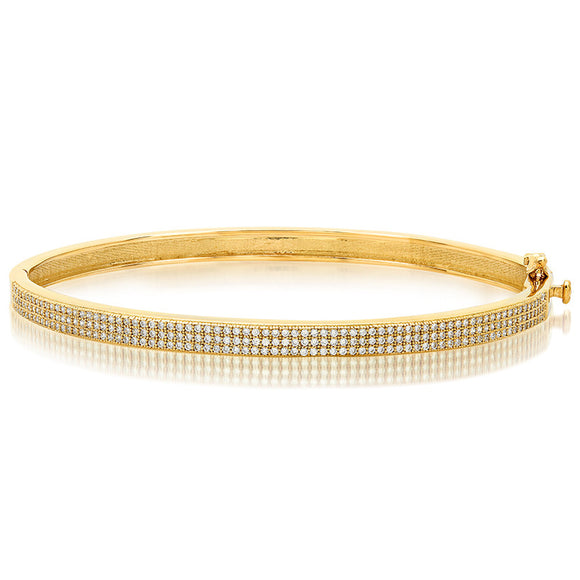 Simple and cute Gold plated bangle. - Zaitano