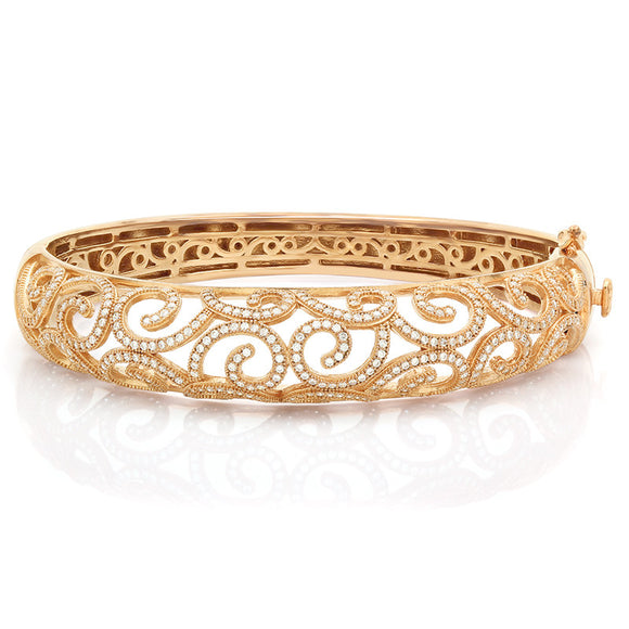 Rose Gold plated love branches bracelet. - Zaitano