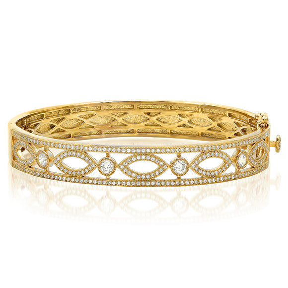 Marquis shape Gold plated fashion bracelet. - Zaitano