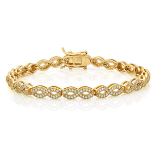 Eternal love Gold plated Fashion bracelet. - Zaitano